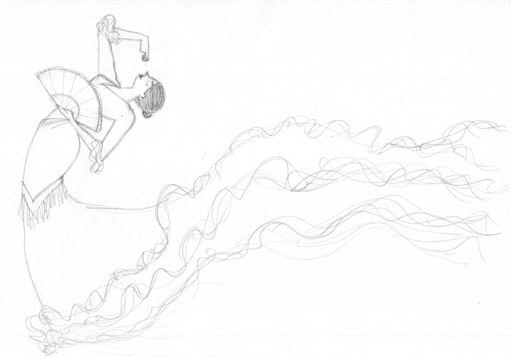 Momoko-Abe_Sketch_spanish-dancer